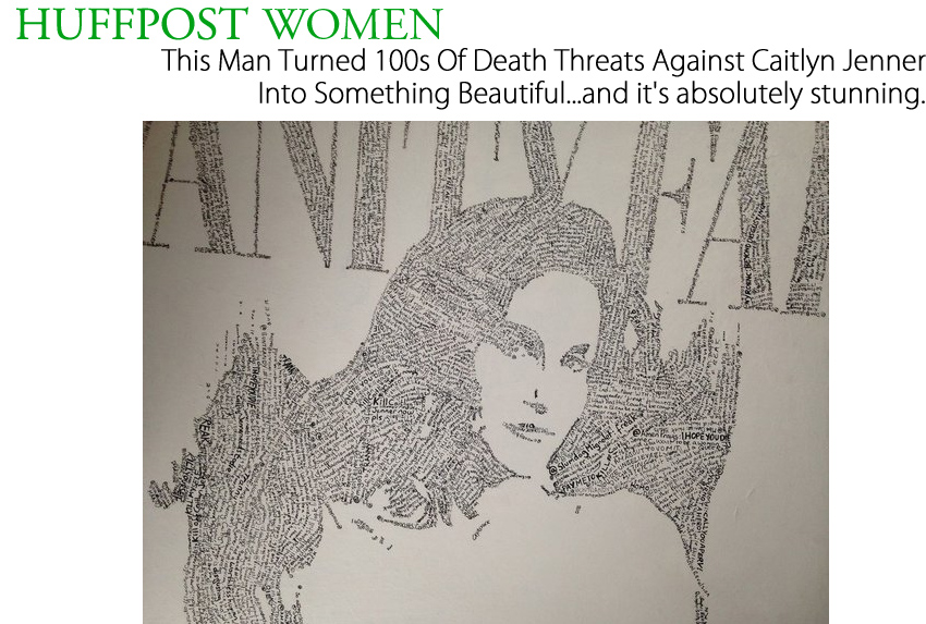 This Man Turned 100s Of Death Threats Against Caitlyn Jenner Into Something Beautiful