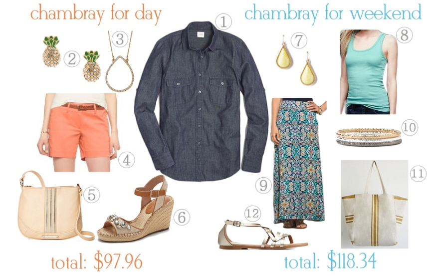 Cambray for Day. Chambray for Weekend.