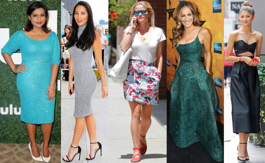 Mindy Kaling, Olivia Munn, Reese Witherspoon, Sarah Jessica Parker, & Zendaya Coleman.