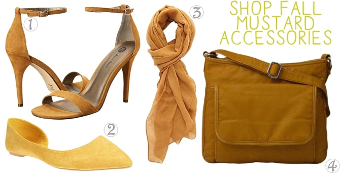 Shop fall mustard accessories.