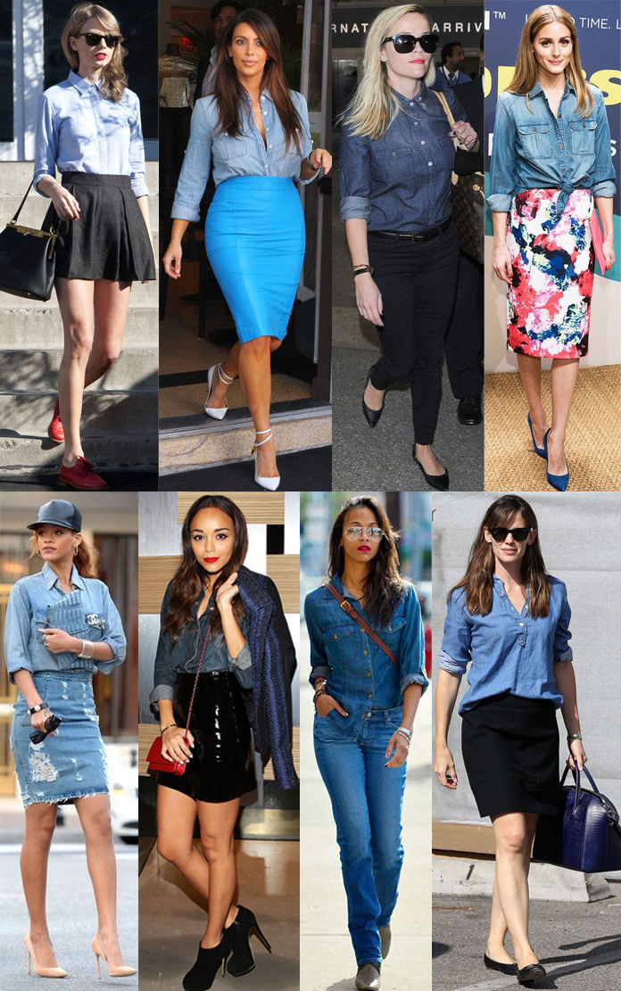 Taylor Swift, Kim Kardashian West, Reese Witherspoon, Olivia Palermo, Rihanna, Ashley Madekwe, Zoe Saldana, & Jennifer Garner.
