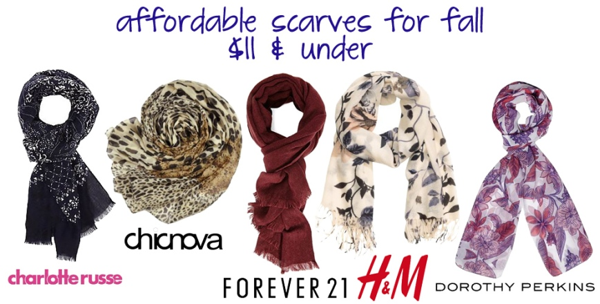 The Stylish Five - Affordable Scarves for Fall, $11 & Under!