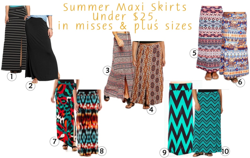 The Stylish Five - Maxi Skirts for Under $25