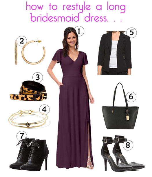 The Weddington Way - How To Restyle a Long Bridesmaid Dress