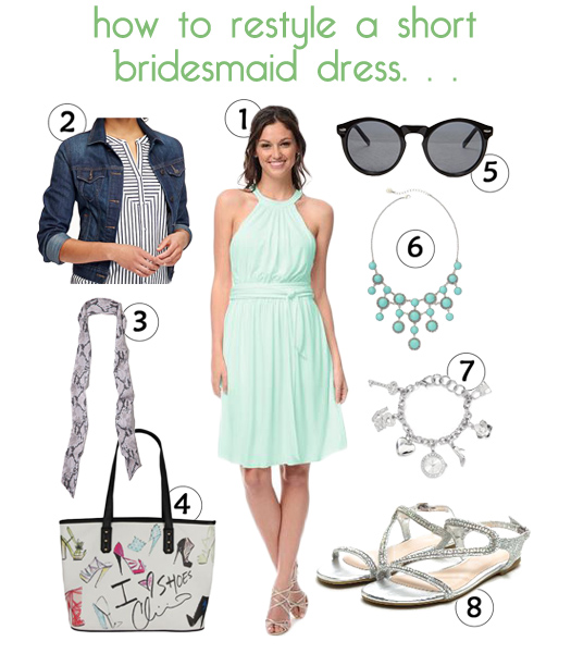 The Weddington Way - How To Restyle a Short Bridesmaid Dress