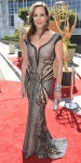 Allison Janney in beaded transparent gown by La Bourjoisie.
