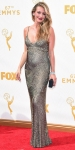 Cat Deeley in a metallic beaded Monique Lhuillier dress.