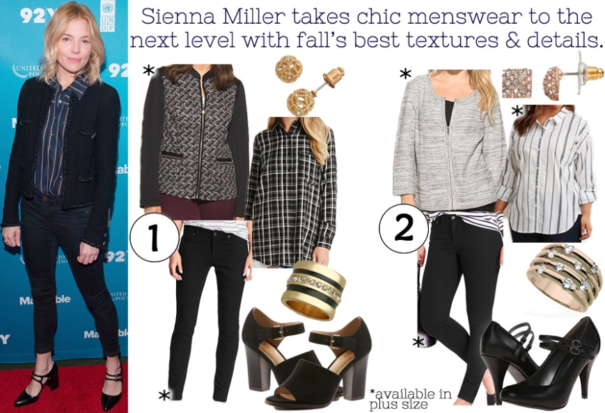 Darling of the Day - Sienna Miller's menswear look for fall.