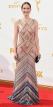 Ellie Kemper in a sequin striped body con Naeem Khan gown.