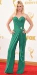 January Jones in a green emerald jumpsuit by Ulyana Sergeenko.
