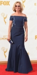 Jessica Lange in a blue embellished off the shoulder gown by J. Mendel.