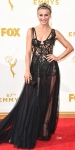 Julianne Hough in a black strappy dramatic Marchesa design.