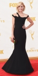 Julie Bowen in a black mermaid Georges Chakra gown.