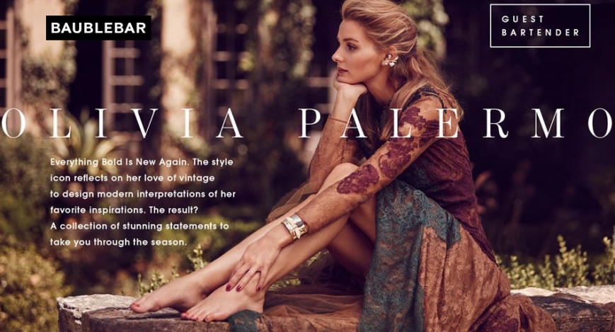 Olivia Palermo for BaubleBar Collection.