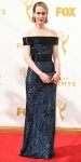 Sarah Paulson in navy & black sparkling custom Prabal Gurung with jewelry by Jennifer Meyer & Brian Atwood shoes.