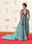 Selenis Leyva in a green deep-v embellished gown.
