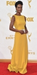 Sufe Bradshaw in a yellow gown.