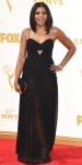 Taraji P. Henson in a black custom Alexander Wang with chain straps.