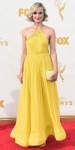 Taylor Schilling in a yellow chiffon Stella McCartney dress.