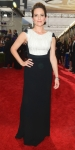 Tina Fey in a black & white cap sleeve column gown by Antonio Berardi.