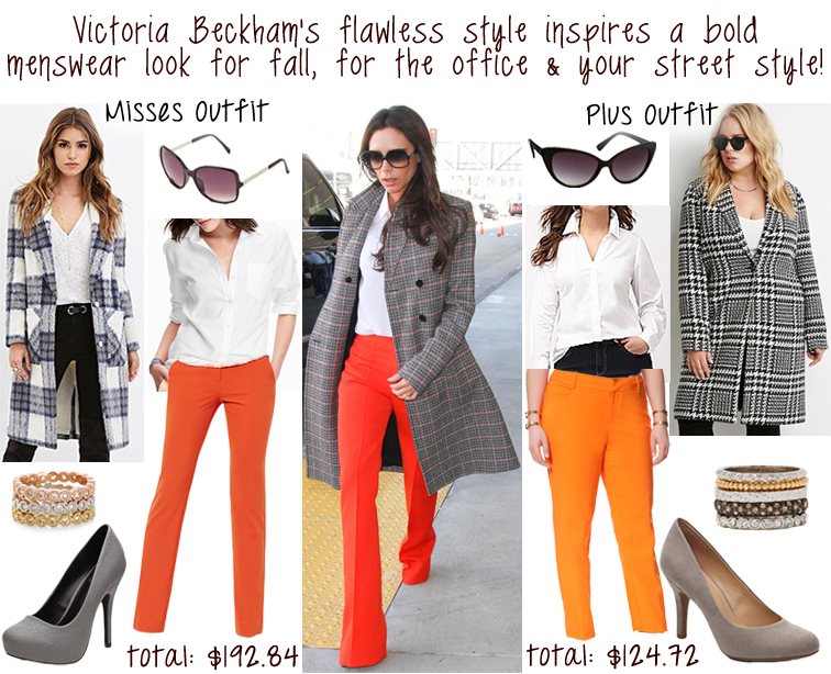10-28-2015 Darling of the Day - Victoria Beckham's menswear style.