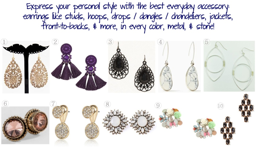 Accessories Access - Budget-Friendly Earrings for the Jewelry-Obsessed $15 & Under!