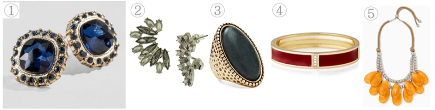 Affordable jewelry to match with your plaid accessories.