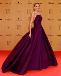 Heidi Klum in a plum Zac Posen ball gown with Lorraine Schwartz jewelry at the 2015 Bambi Awards.