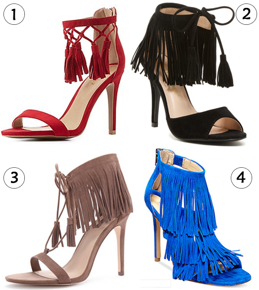 Show Me The Shoes - Fringed Suede Sandals