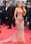 Blake Lively in a nude sheer beaded Atelier Versace gown at the Cannes Film Festival.