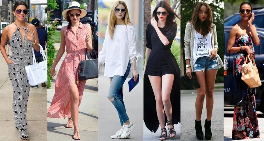 Summer inspiration from Eva Longoria, Miranda Kerr, Olivia Palermo, Kendall Jenner, Ashley Madekwe, & Zoe Saldana.
