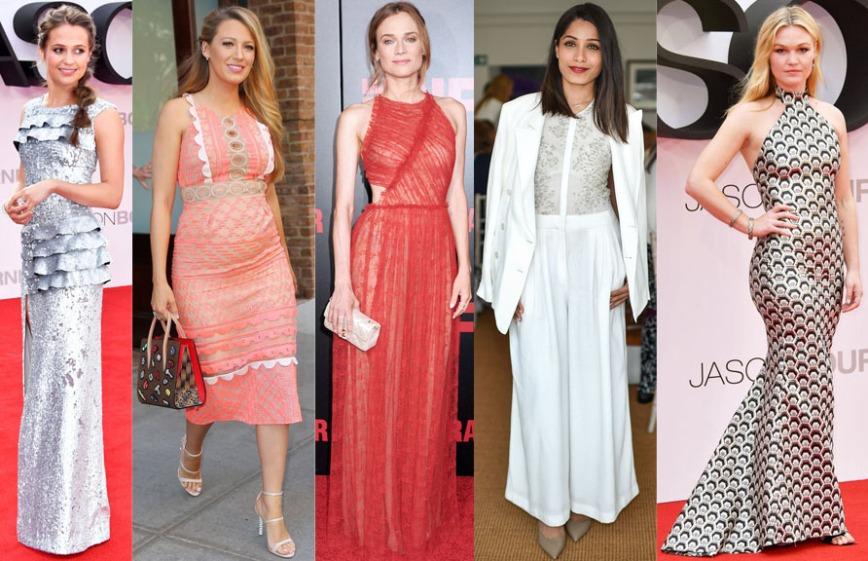 Alicia Vikander, Blake Lively, Diane Kruger, Freida Pinto, & Julia Stiles.