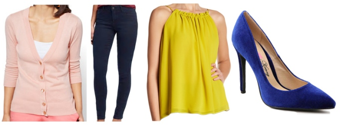 82e3c18f7e SHOP: cardigan @New York & Company, skinny jeans @Old Navy, top @Nordstrom  Rack, & heels @DSW.
